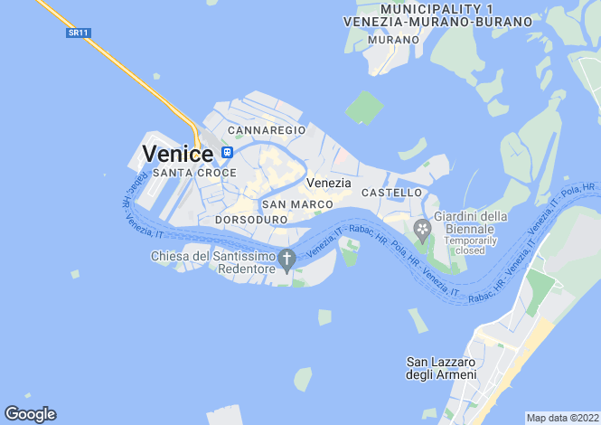 Map for Ca' Dell'Angelo, San Marco, Venice, Italy