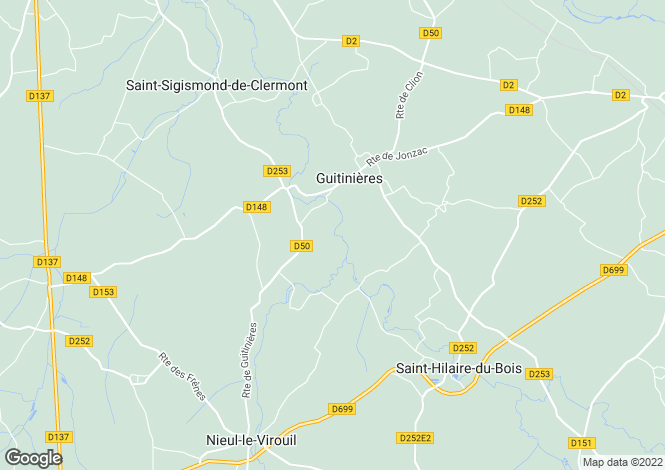 Map for guitinieres, Charente-Maritime, France