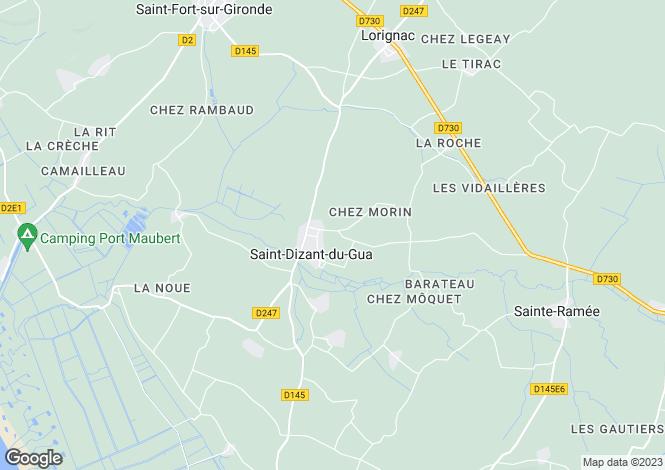 Map for Poitou-Charentes, Charente-Maritime, St-Dizant-du-Gua