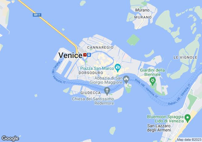Map for Palazzetto Gotico, Dorsoduro, Venice, Italy
