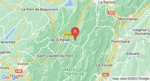 map of Pointe de Thivelet (France)