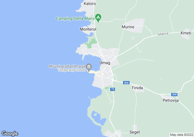 Map for Istria, Umag