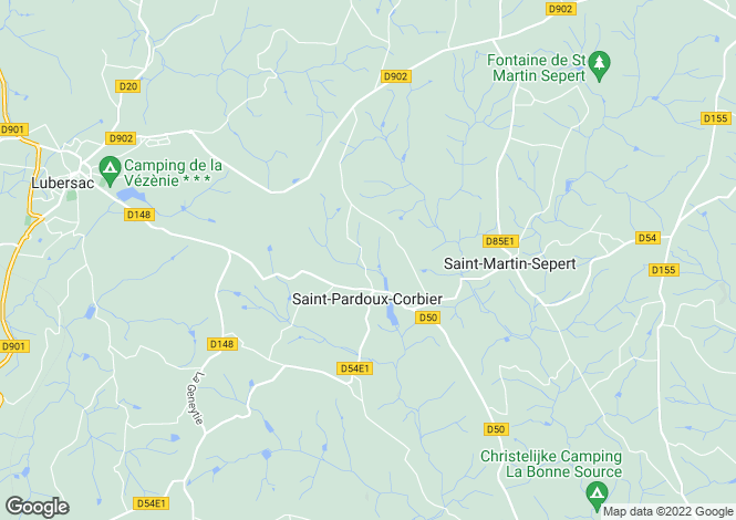 Map for Saint Pardoux Corbier, Limousin, France