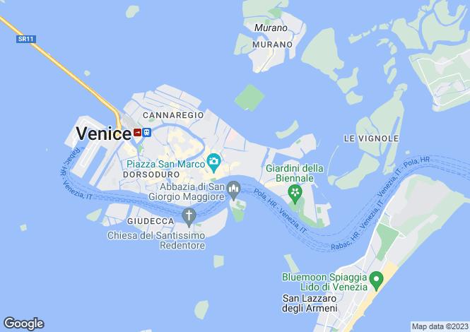 Map for Veneto, Venice, Venice