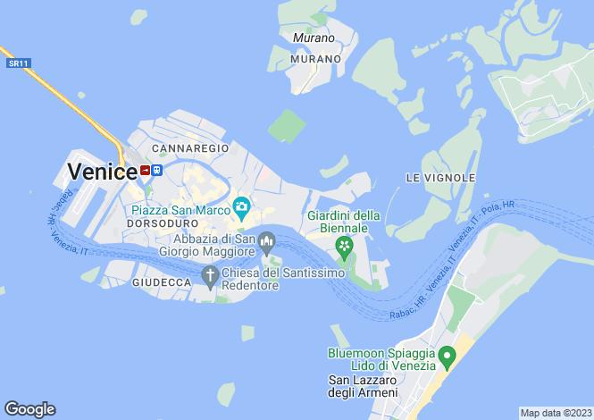 Map for Ca' Ducale, Castello, Venice, Italy