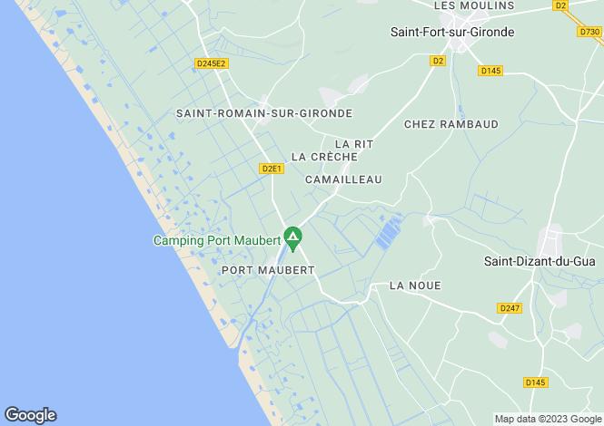Map for Secteur: Port Maubert, Charente-Maritime