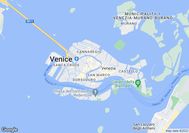 Map for Veneto, Venice, Venice
