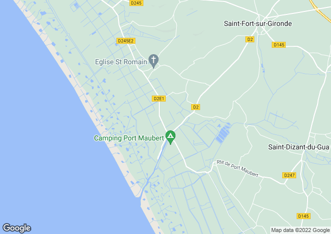 Map for Proche/Near Mortagne sur Gironde, Charente Maritime