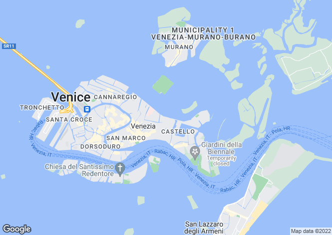 Map for Venezia, Venice, Veneto