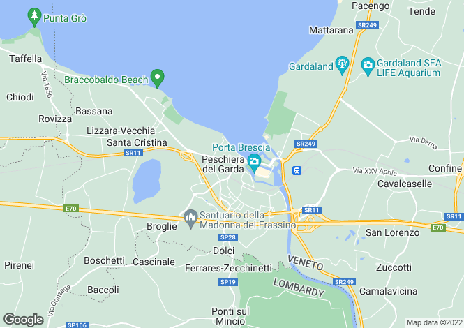 Map for Peschiera Del Garda 37019, Verona