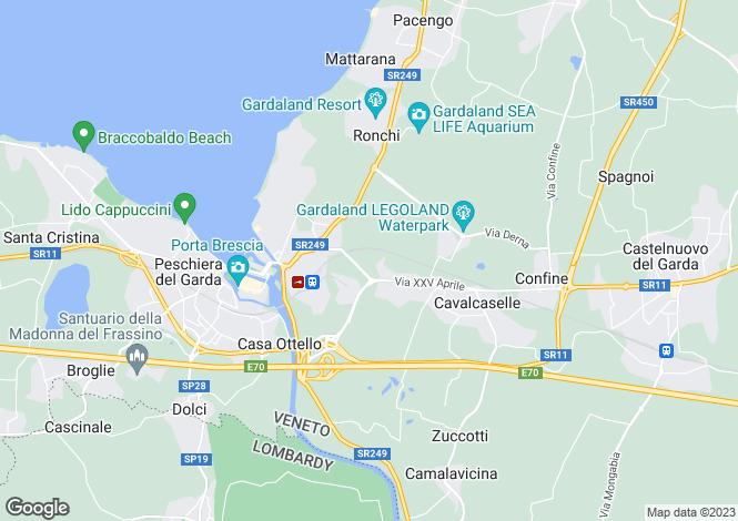 Map for Castelnuovo Del Garda, Verona, Veneto