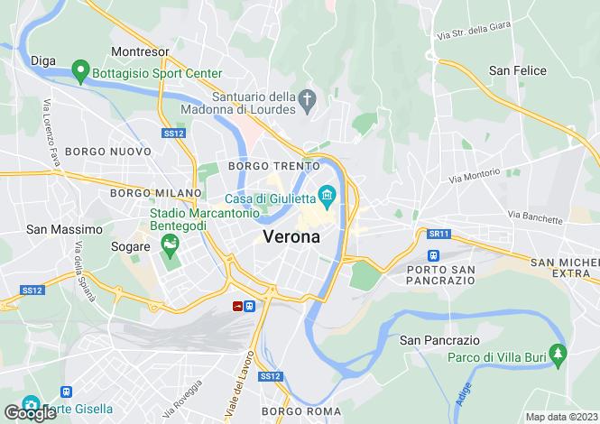 Map for Veneto, Treviso, Verona