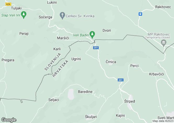 Map for Buzet, Istria