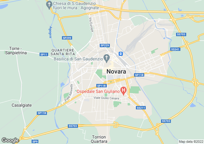 Map for Novara, Novara, Piedmont