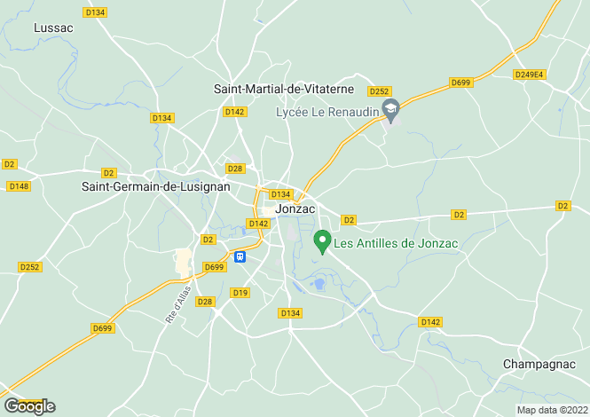 Map for Secteur: Jonzac, Charente Maritime