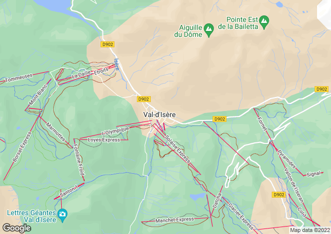Map for val-d-isere, Savoie, France