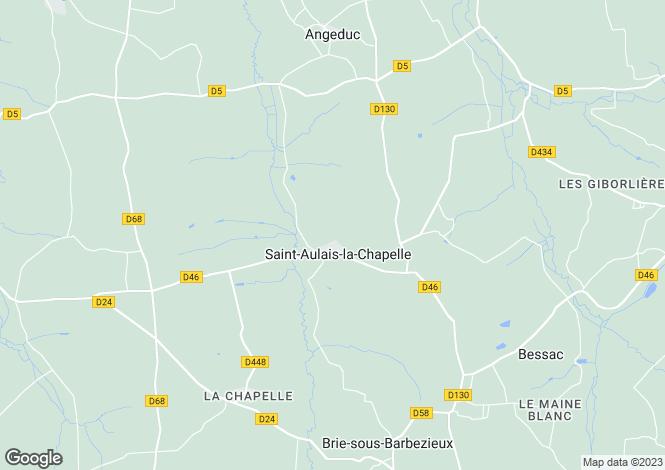 Map for st-aulais-la-chapelle, Charente, France