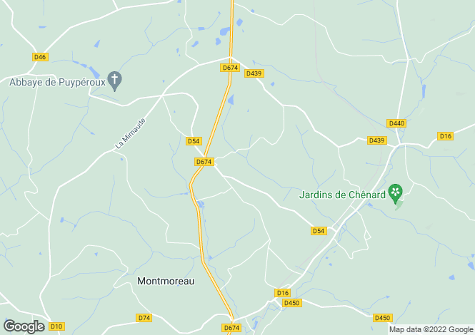 Map for aignes-et-puyperoux, Charente, France