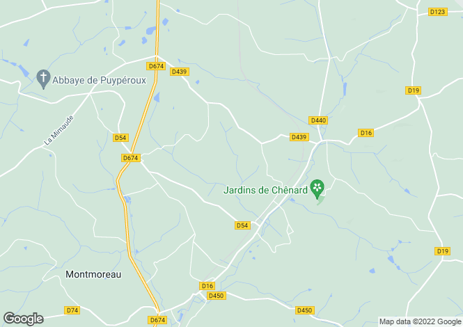 Map for chavenat, Charente, France