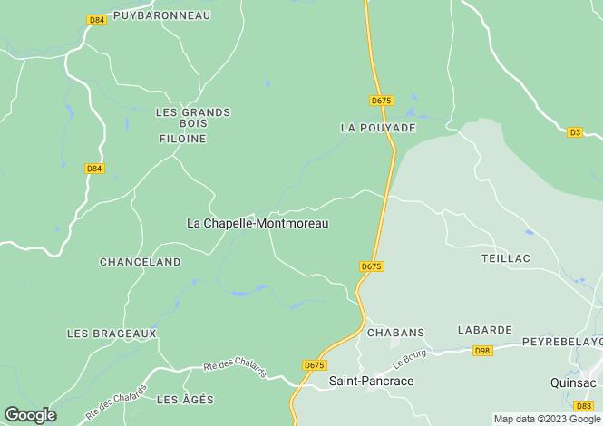 Map for la-chapelle-montmoreau, Dordogne, France