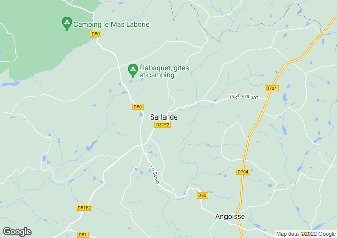 Map for sarlande, Dordogne, France
