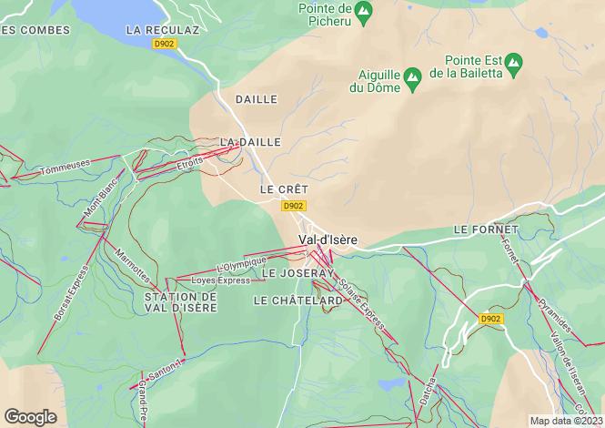 Map for Rhone Alps, Savoie, Val-d`Isère