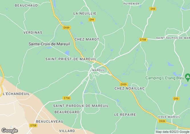 Map for Secteur: Mareuil, Dordogne