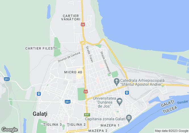 Map for Galati, Galati