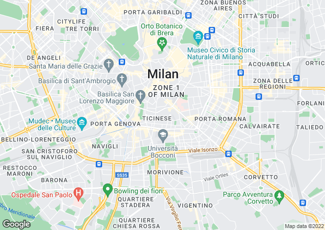 Map for Milano, Milano, Italy