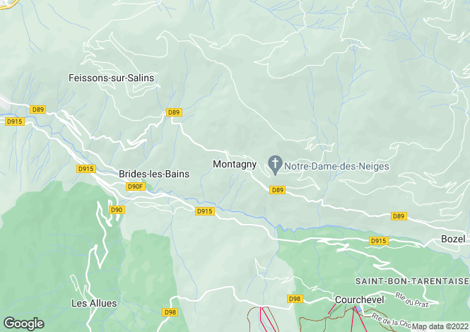 Map for Montagny, Savoie, Rhone Alps