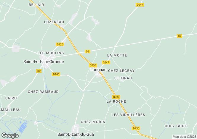 Map for Secteur: Lorignac, Charente-Maritime