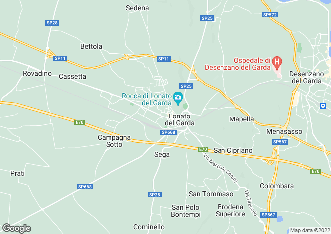 Map for Lombardy, Brescia