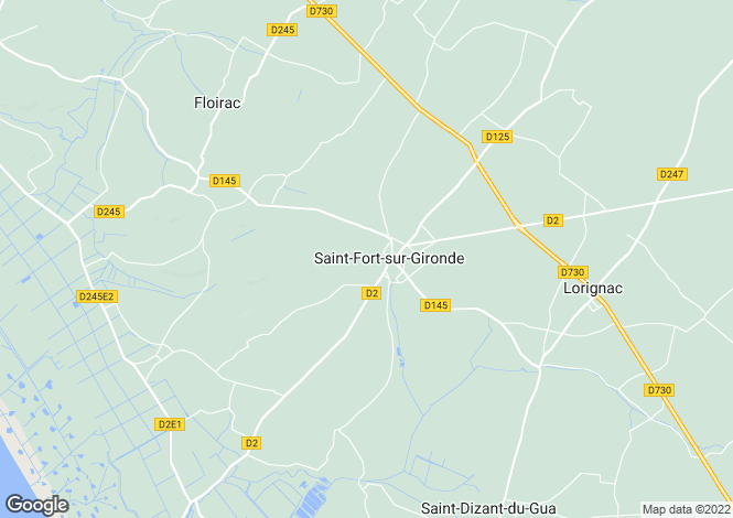 Map for Poitou-Charentes, Charente-Maritime, St-Fort-sur-Gironde