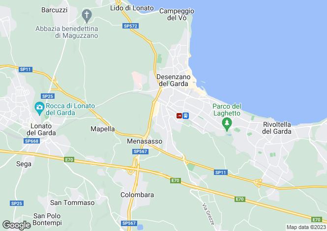 Map for Desenzano del Garda, Brescia, Lombardy