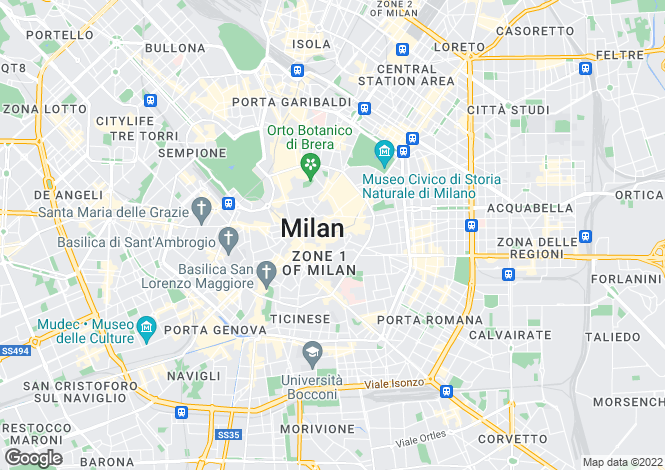 Map for Monza, Italy