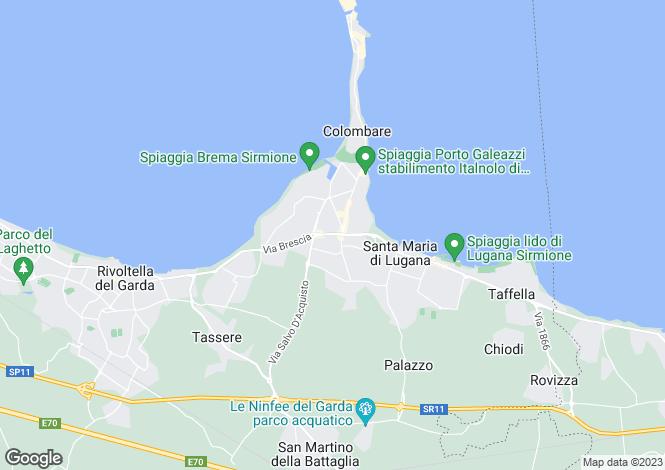 Map for Sirmione, Brescia, Lombardy