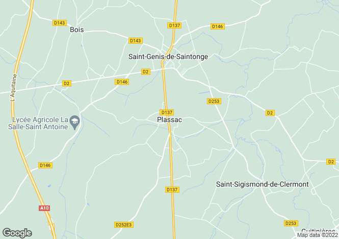 Map for Proche / Near Plassac, Charente Maritime