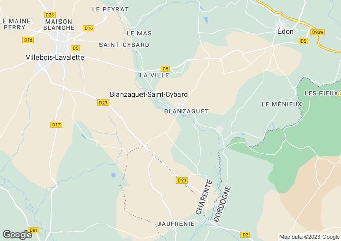 Map for villebois-lavalette, Charente, France