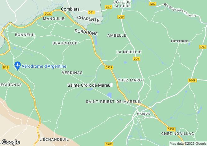 Map for ste-croix-de-mareuil, Dordogne, France