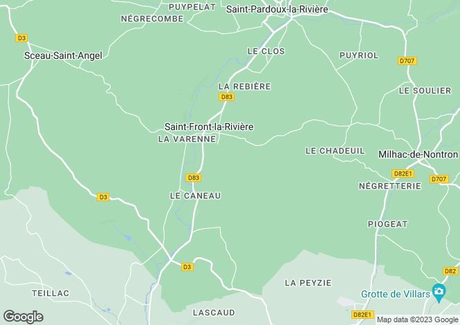Map for Aquitaine, Dordogne, St-Front-la-Rivière