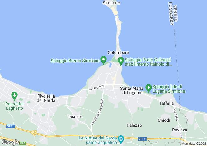 Map for Sirmione 25019, Brescia