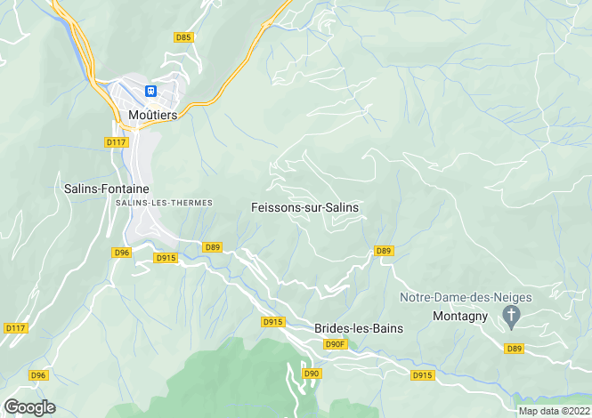 Map for 73350 feissons-sur-salins