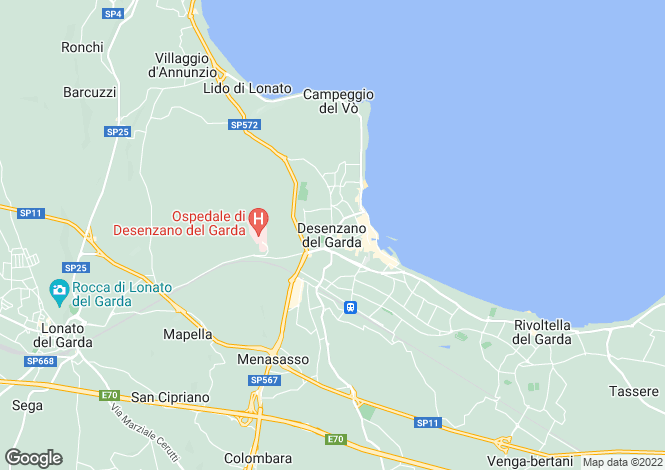 Map for Desenzano Del Garda 25018, Brescia