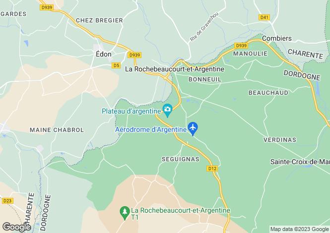 Map for La Rochebeaucourt-et-Argentine, Dordogne, 24340, France