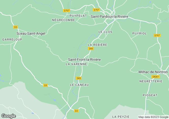 Map for Secteur: Saint-Front-la-Rivière, Dordogne