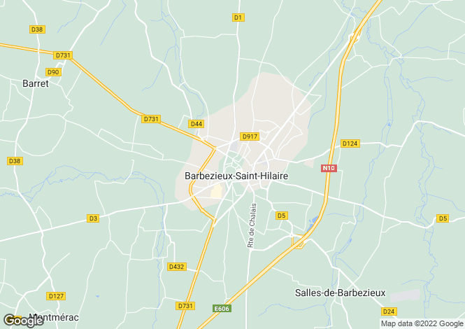 Map for Secteur: Barbezieux, Charente