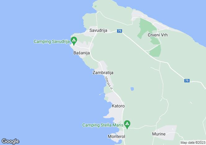 Map for Istra, Umag, Croatia