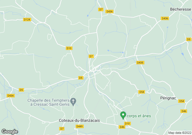 Map for Secteur: Blanzac-Porcheresse, Charente