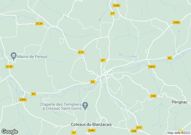 Map for Blanzac-Porcheresse, Poitou-Charentes, France