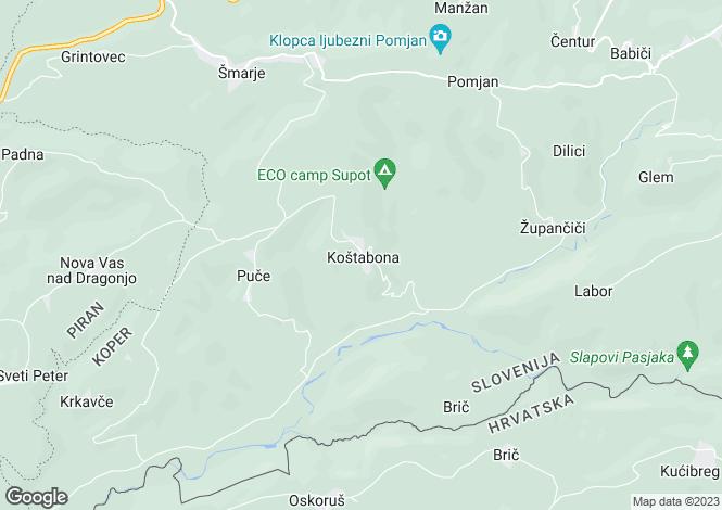 Map for Koper, Socerga